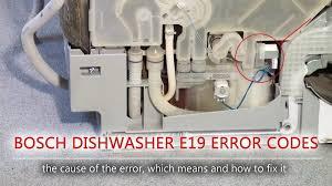 Sửa máy rửa bát báo lỗi E19
